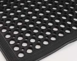 Rubber matten Ringmat met aflopende rand