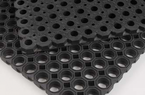 Rubber matten Ringmat honingraat (hexagon)